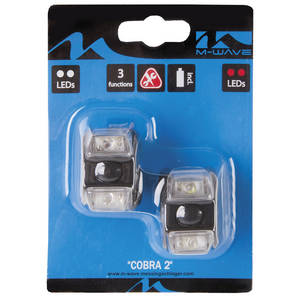 M-WAVE Cobra II Batterieblinklicht-Set