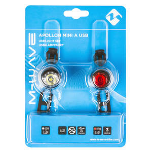 M-WAVE Apollon Mini A USB Akkulampen-Set