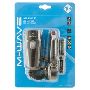 M-WAVE Atlas K 50 Batterieleuchten-Set