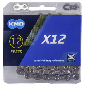 KMC X12 Silver/Black indicator chain