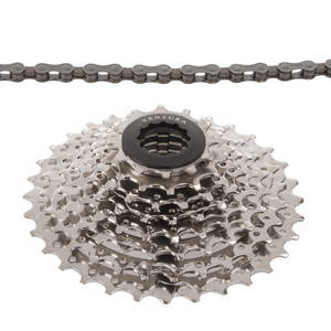 VENTURA Power 8 speed set of chain and cassette