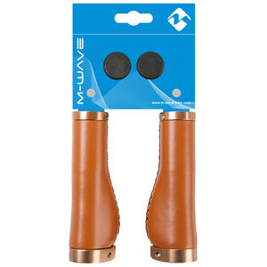 M-WAVE Cloud Buff Fix Brown bicycle grips
