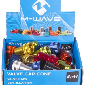 M-WAVE Valve Cap Cone juego de tapa de válvula