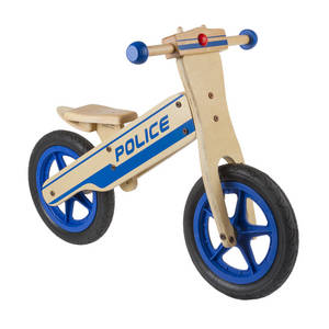 Police wooden running bike