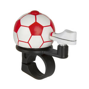 M-WAVE Soccer Red Mini-Fahrradglocke