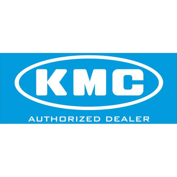 KMC  Aufkleber, Rückseite klebend