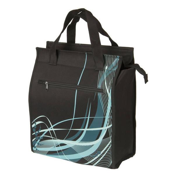 M-WAVE Amsterdam Style Black Fancy Seitentasche