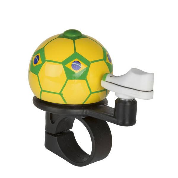 M-WAVE Soccer Brazil Mini-Fahrradglocke