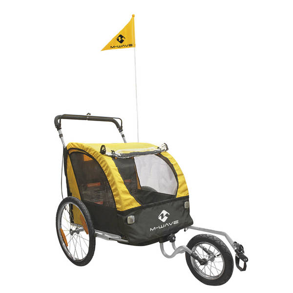 M-WAVE Stalwart Kid 3in1 remolque niños/equipaje/footing
