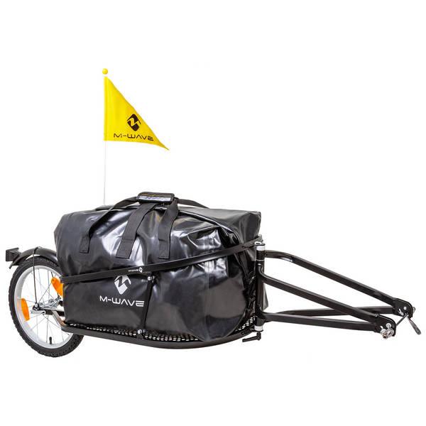M-WAVE Stalwart Single 40 single track luggage bicycle trailer Set