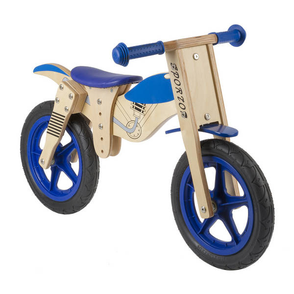 Motorbike wooden running bike