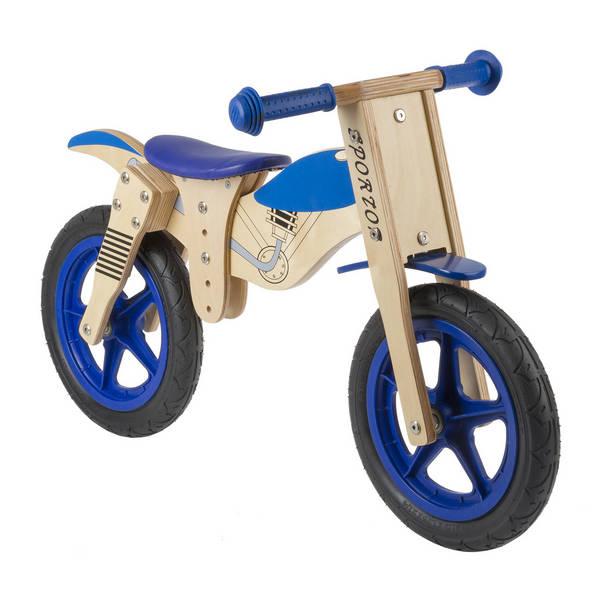 Motorbike wooden running bike