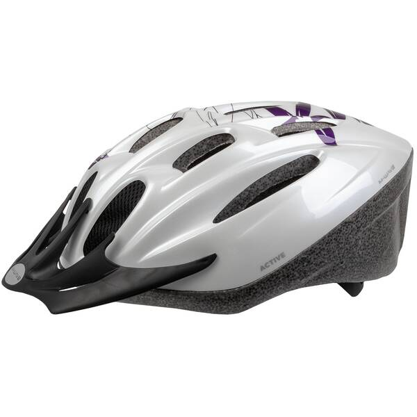 M-WAVE Active bicycle helmet White Flower