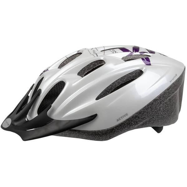 M-WAVE Active White Flower casco bicicleta