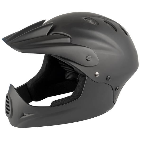 M-WAVE ALL-In-1 matt black Downhill casco