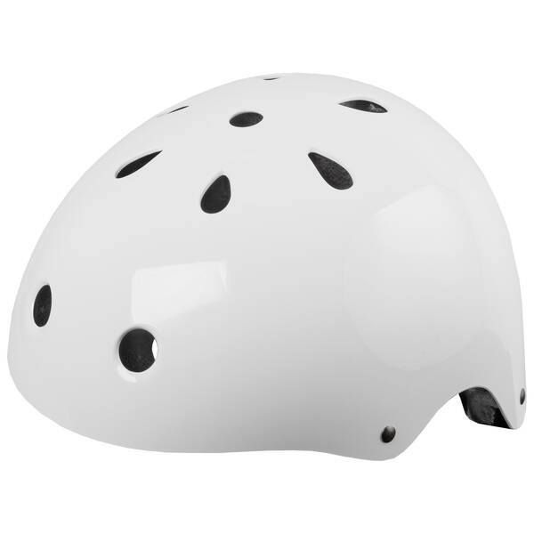 M-WAVE LAUNCH glossy white BMX casco