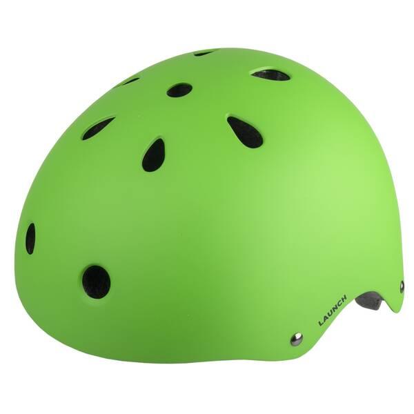 M-WAVE LAUNCH matt green BMX helmet