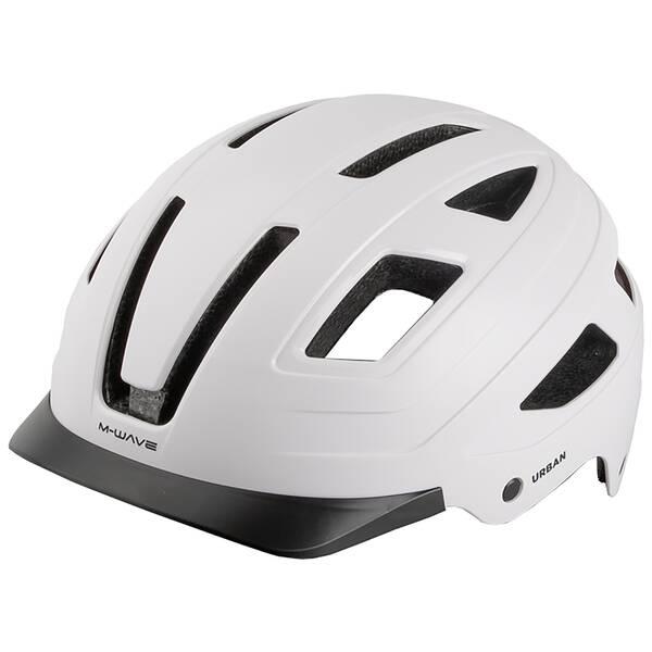 M-WAVE URBAN with LIght matt white Fahrradhelm